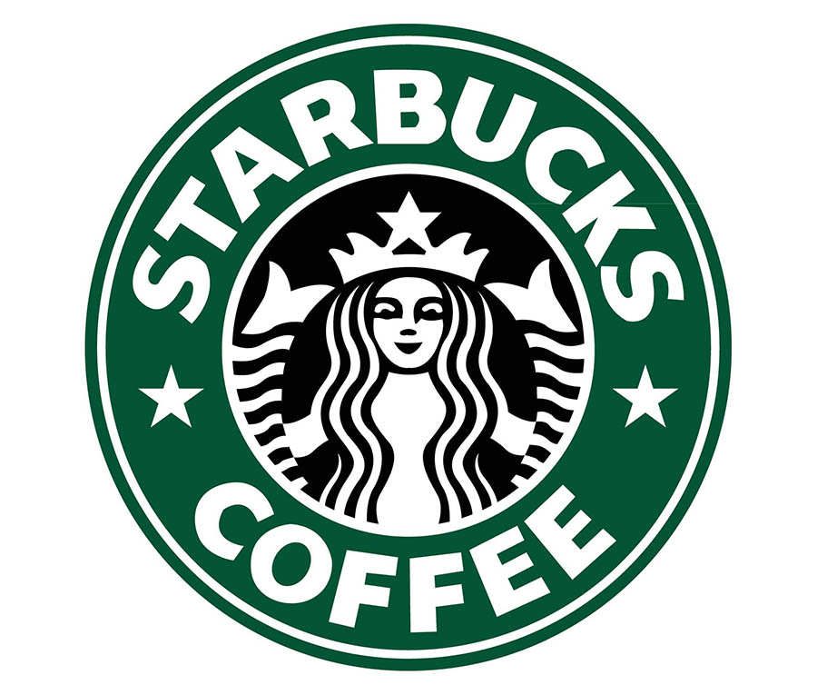 The Starbucks logo.
