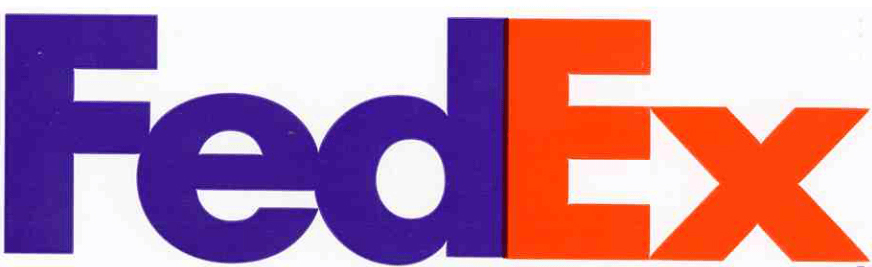The FedEx logo.